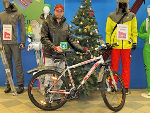 Самый активный народный корреспондент Инфопортала получил велосипед