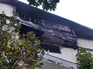 В 1-м микрорайоне сгорела трехкомнатная квартира