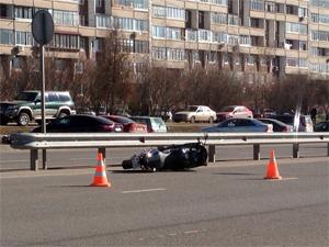 На Георгиевском проспекте пострадал мотоциклист