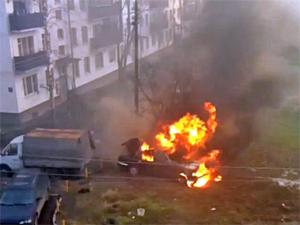 В Андреевке сгорела «Волга»