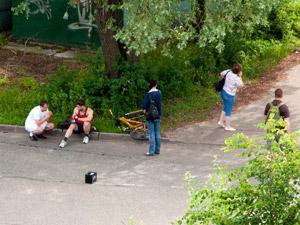 Велосипедист пострадал при выезде из лесопарка