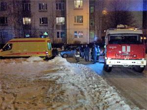 На пожаре в 15-м микрорайоне пострадал один человек