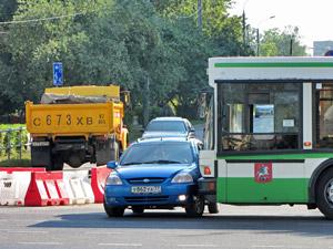 На аварийном участке Центрального проспекта произошло ДТП с автобусом