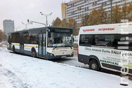 Автобус протаранил маршрутку в момент высадки пассажиров