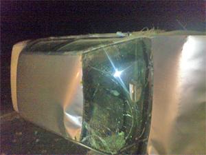 В перевернувшейся на Георгиевском шоссе машине ехал угонщик