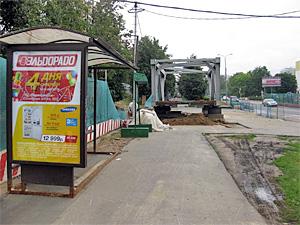 Остановку «Парк Победы» восстановят через месяц