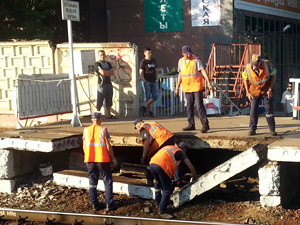Железнодорожники не нашли повреждений на других платформах в Крюково