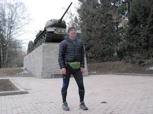 Спортсмен из Петербурга посетил Зеленоград в ходе пешего путешествия вокруг света