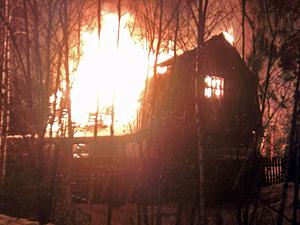 В деревне Жилино сгорела баня