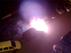 В Андреевке сгорели три машины