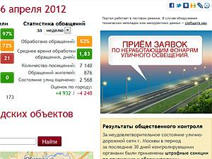 Префектура игнорирует обращения через портал «Дороги Москвы»