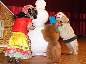 Цирк дрессированных собак, Елена Яковлева, Роксана Бабаян, Михаил Державин, «Когда Дед Мороз был маленьким»
