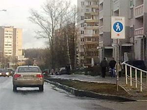 На улице Летчика Полагушина завелся знак-фантом