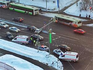 Пьяный водитель устроил аварию с четырьмя авто у «Кафе Лесное»
