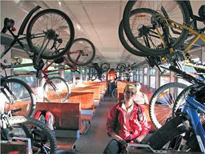 В крюковских электричках разрешат бесплатно провозить велосипеды