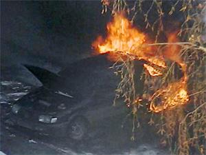 Во 2-м районе сгорел Volkswagen Passat
