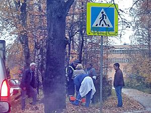 На улице Летчика Полагушина грузовик сбил двух пенсионеров