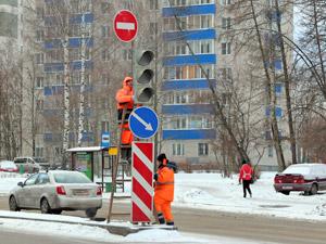 На Московском проспекте заработал новый светофор