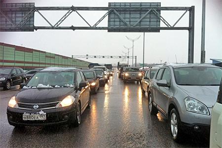 На Новой Ленинградке перевернулись два автомобиля