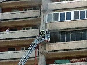 На пожаре в 11-м микрорайоне погиб мужчина