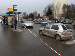 У автобусной остановки нашли мину