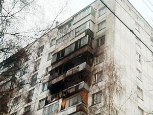 В Андреевке сгорели шесть балконов