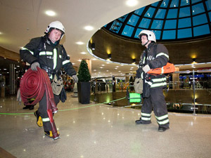 Пожарные учения в «Иридиуме»
