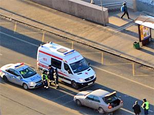 У «Иридиума» автомобиль сбил пешехода-нарушителя
