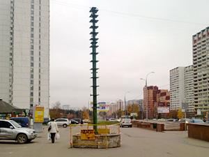 В Зеленограде устанавливают новогодние елки