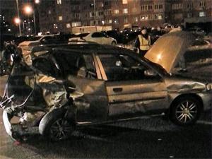 На улице Каменке столкнулись семь транспортных средств