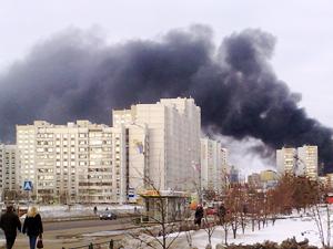 В Андреевке горел завод «Стеклопластик»