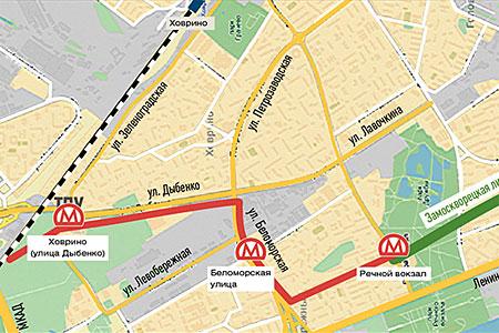 У станции метро «Ховрино» построят новую платформу Октябрьской железной дороги
