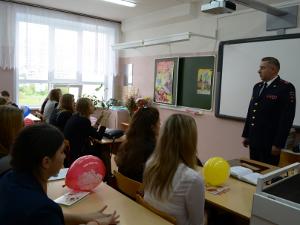 Выступление начальника УВД Зеленограда в школе № 1194