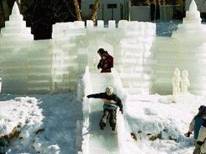 В парке Победы построят ледяную горку-крепость
