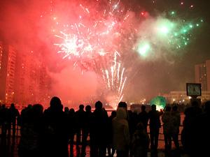 Ночью 1 января в парке Победы устроят монохромный фейерверк