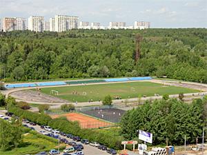 На стадионе МИЭТа развернут армейский городок