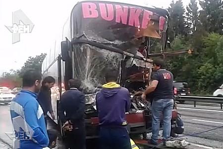 Водитель междугороднего автобуса погиб в ДТП с грузовиком рядом с Зеленоградом