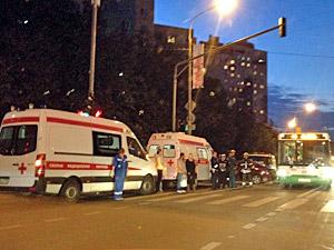Таксист устроил лобовое столкновение на перекрестке в 1-м микрорайоне