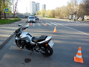 Мотоциклист сбил ребенка на улице Гоголя
