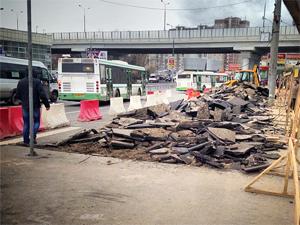 Новые парковки на Крюковской площади вместят более 100 машин