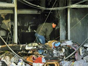 Торговый центр «1000 мелочей» загорелся от розетки