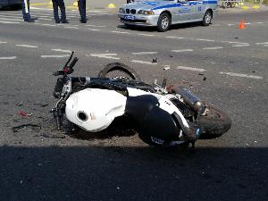 На Георгиевском проспекте разбился мотоциклист