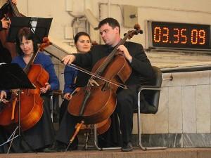 Ночной концерт в метро