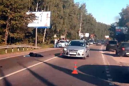 Внедорожник насмерть сбил девушку на Пятницком шоссе