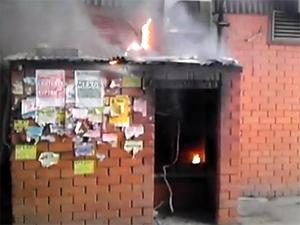 Пожар под эстакадой