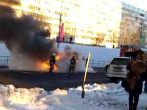 У ТЦ «Савелки» сгорел автомобиль