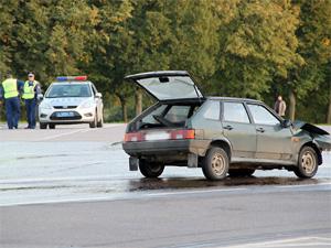 Аварию у префектуры устроил водитель без прав