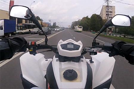 Квадроциклист снял на видео езду по Зеленограду со скоростью 140 км/ч