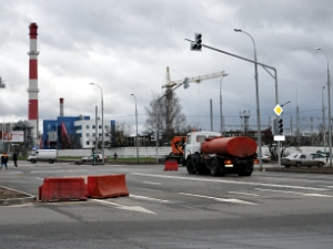 Открыт перекресток на пересечении Панфиловского и Центрального проспектов
