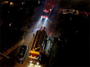 Очевидцы пожара спасли из огня двух человек